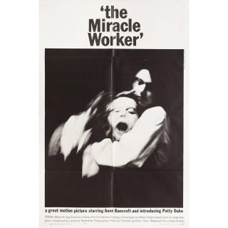 The Miracle Worker 1962 U.S. One Sheet Film Poster For Sale