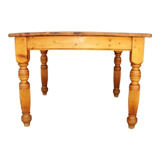 Farmhouse Wooden Dining Table For Sale