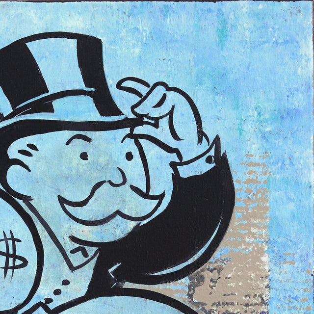 """Contemporary """"Take the Money and Run Fast"""" Original Artwork by Kathleen Keifer For Sale - Image 3 of 9"""