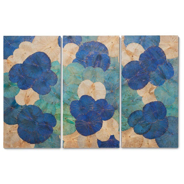 Contemporary Thai Lotus Wall Hangings - Set of 3 For Sale - Image 4 of 4