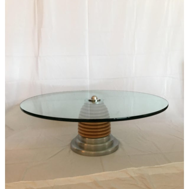 Vintage Mid Century Modern Postmodern J. Wade Beam for Brueton Coffee Cocktail Table For Sale - Image 10 of 12