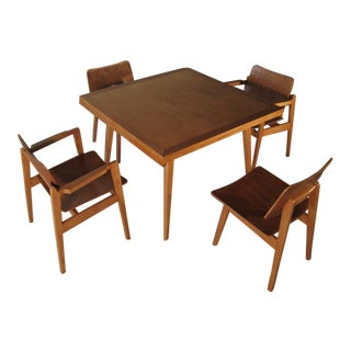 Jens Risom for Knoll Danish Modern Maple Dining Set For Sale