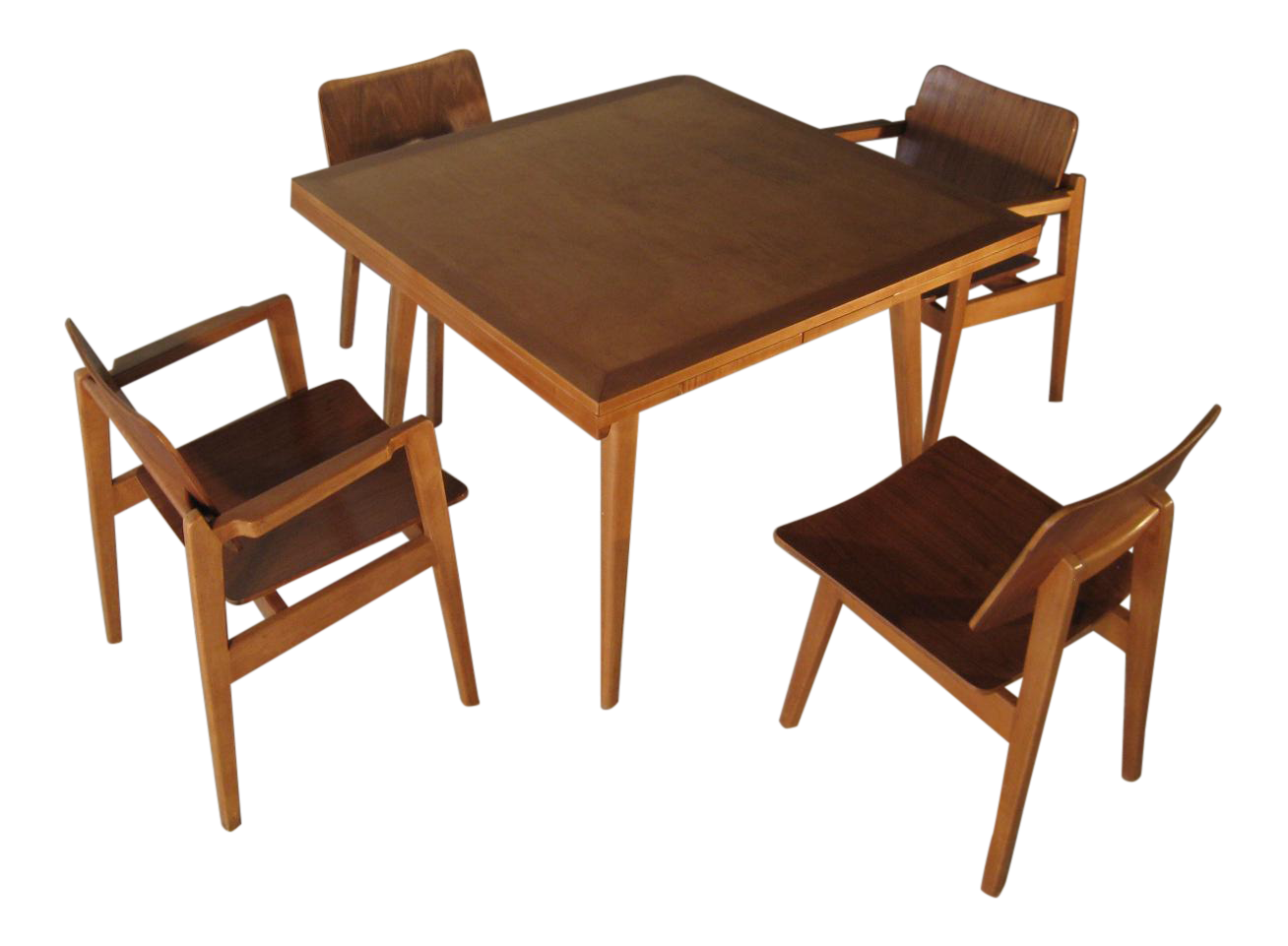 Jens Risom For Knoll Danish Modern Maple Dining Set