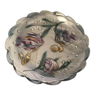 Large Vintage Murano Art Decor Glass Fish Decorative Serving Tray For Sale