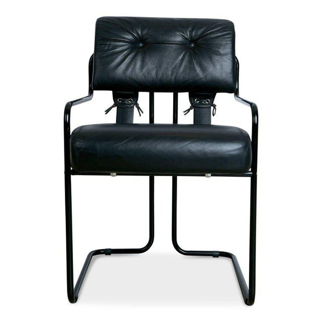 Rare Black on Black Tucroma Chair by Guido Faleschini for Pace ...