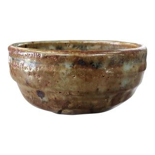 Mid 20th Century Japanese Shino Ware Chawan Tea Bowl For Sale