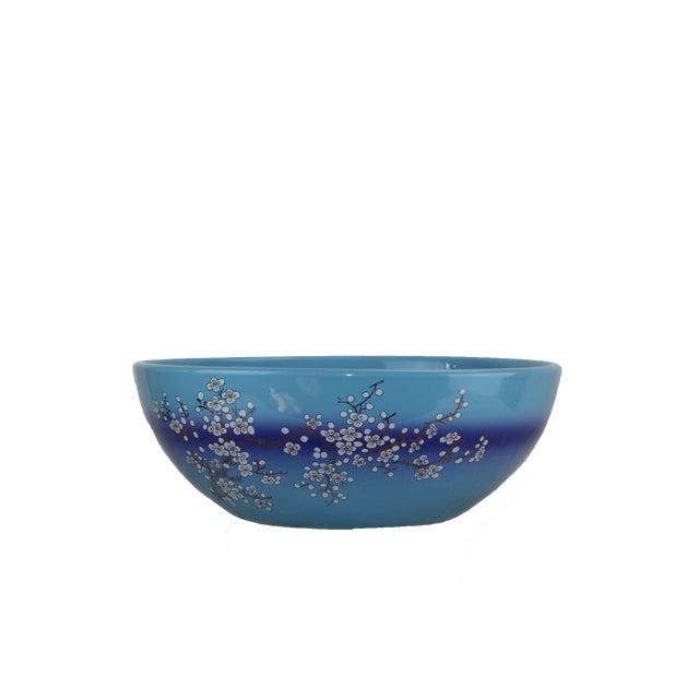 Pasargad DC Modern Navy Blue Motif Sink Bowl For Sale