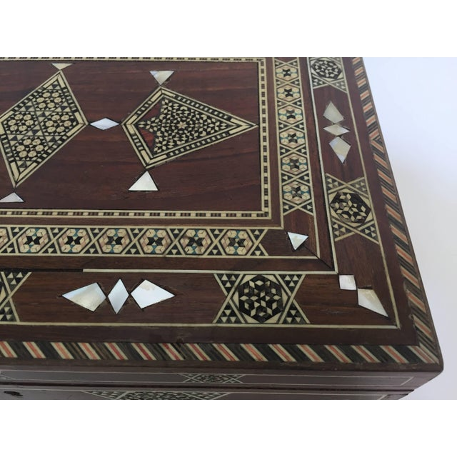 Black Large Islamic Syrian Wooden Micro Mosaic Box For Sale - Image 8 of 13