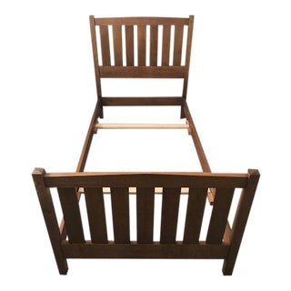 Arts and Crafts Twin Bedframe For Sale