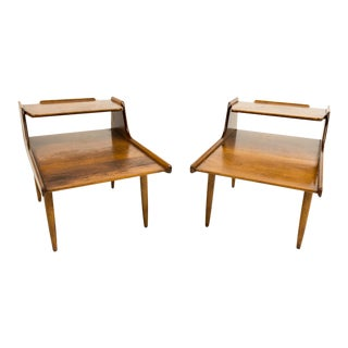 Russel Wright Conant Ball Side Tables - A Pair