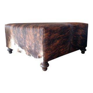 Gambrell Renard Classic Cowhide Ottoman For Sale