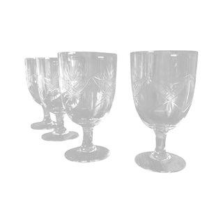 1940s Etched Wine Glasses/Goblets - Set of 8