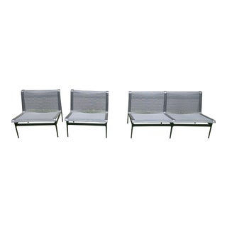 """21st Century Vintage Richard Schultz for Knoll """"Swell"""" Outdoor Chairs & Loveseat For Sale"""