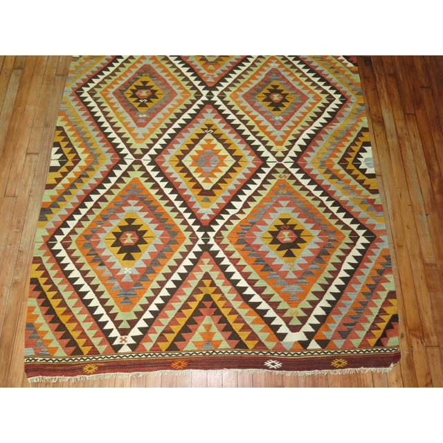 One of a Kind Turkish Kilim Flatweave. 5 X 7'5''. For Sale - Image 4 of 5