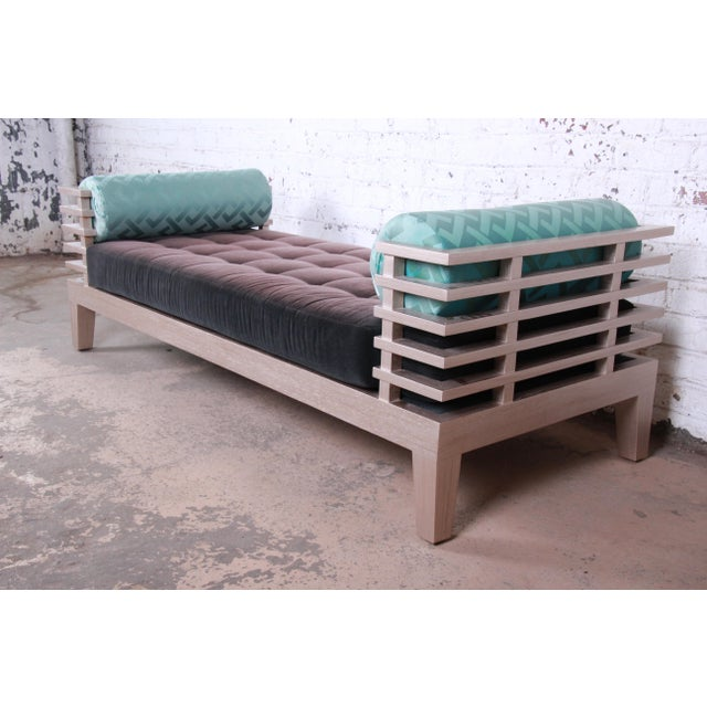 """Adriana Hoyos Modern """"Chocolate"""" Day Bed For Sale - Image 13 of 13"""