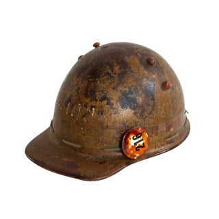 Brown Hard Hat With Pin For Sale