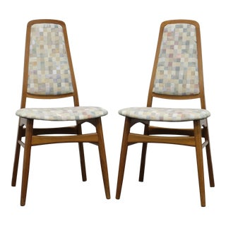 Faarup Mobelfabrik Solid Teak Danish Mid Century Modern Dining Chairs - Pair For Sale