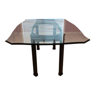 Vintage Henredon Dining Table With Glass Top
