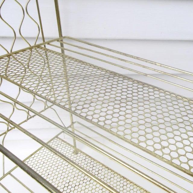 Vintage Metallic Brass Display Shelf - Image 5 of 8