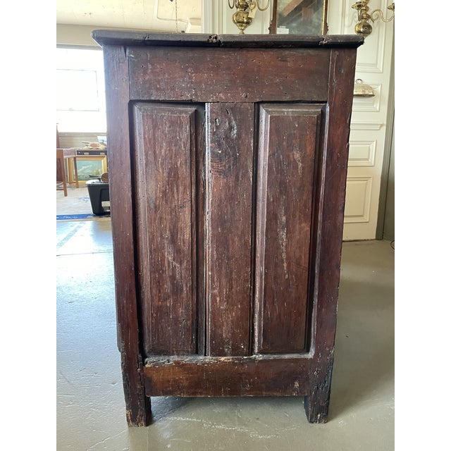 French Country Antique Rustic French Country Louis XIV Hardwood Two Door Storage Cupboard For Sale - Image 3 of 13