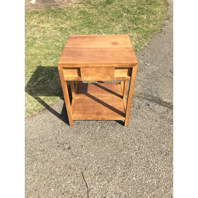 Mid Century Walnut Side Table by Widdicomb For Sale - Image 6 of 8