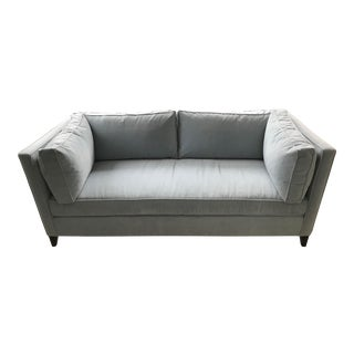 Modern Sky Blue Tuxedo Sofa For Sale
