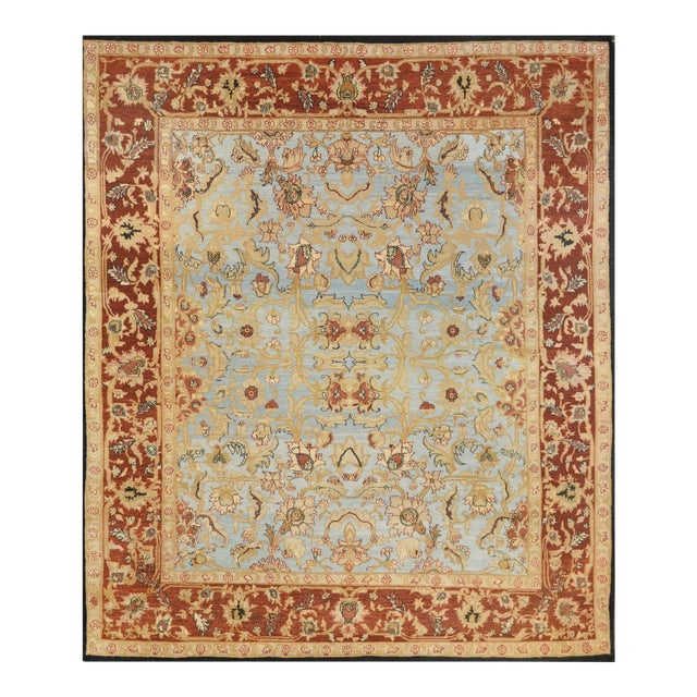 """Mansour Fine Handwoven Agra Rug - 8'9"""" X 10' For Sale"""