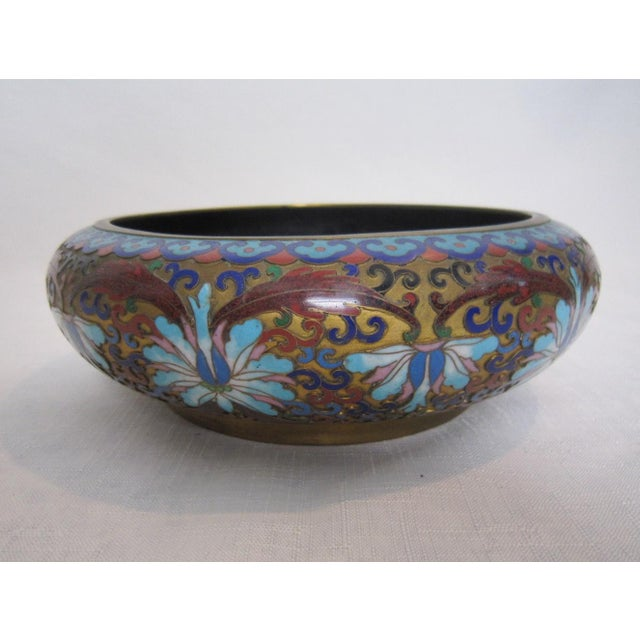 Vintage Chinese Cloisonné Bowl - Image 3 of 5