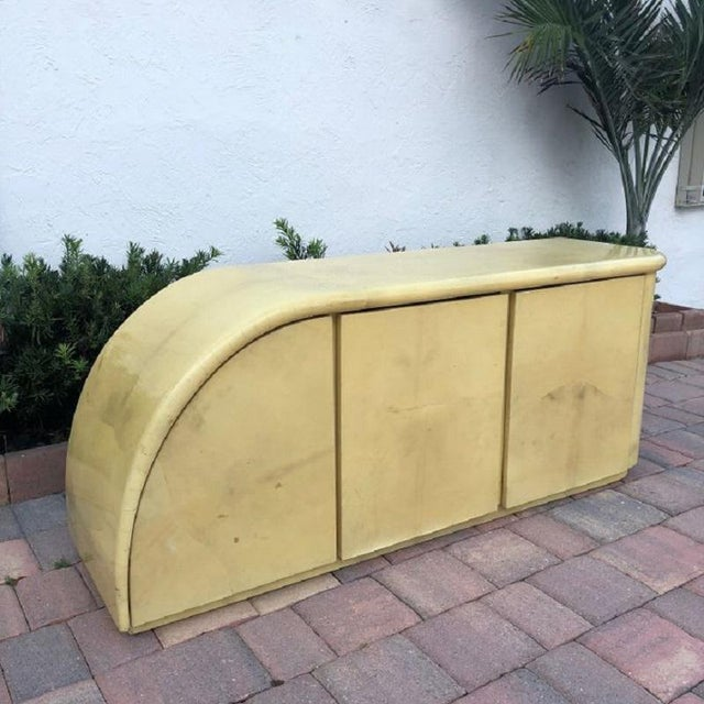 Midcentury Karl Springer Goatskin Credenza/Sideboard For Sale In Chicago - Image 6 of 6