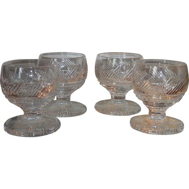 Elegant Antique Irish Cut Crystal Goblets - Set of 4 - Image 1 of 2