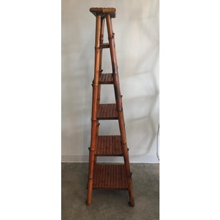 1990s Art Nouveau Tall Bamboo Folding Bookcase Preview