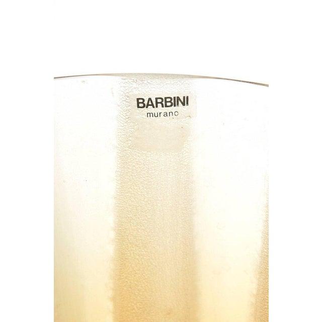 Italian Murano Barbini Acid Etched Monumental Glass Vase - Image 2 of 10