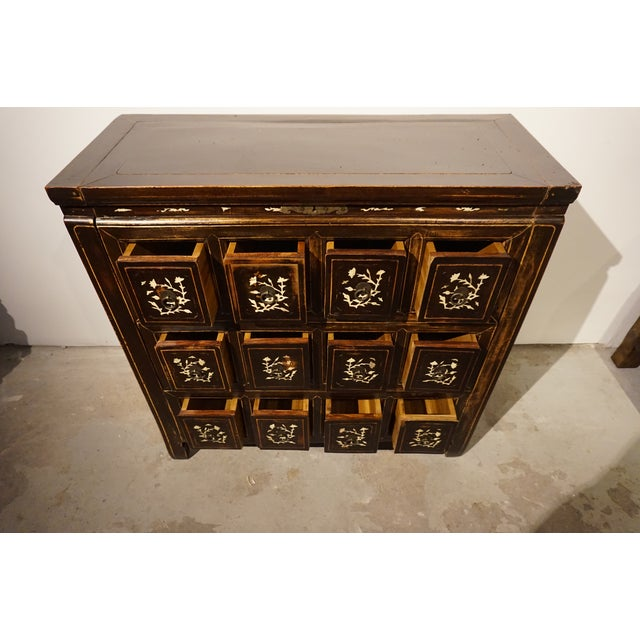 Antique Chinese Elm Wood Apothecary Cabinet - Image 3 of 5