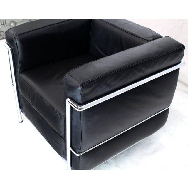 Licensed Le Corbusier Club Chairs and Matching Lc2 Sofa Set- 3 Pieces For Sale - Image 11 of 12