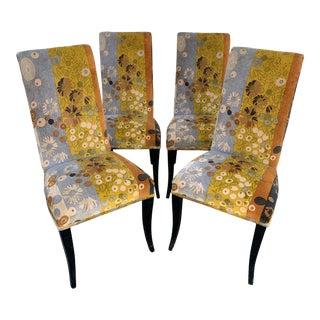 Jack Lenor Larsen Velvet Dining Chairs - Set of 4 For Sale