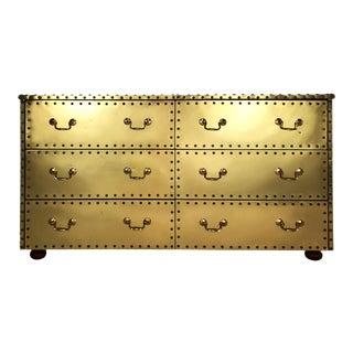 Vintage Sarreid Ltd. Hollywood Regency Style 6 Drawer Dresser For Sale