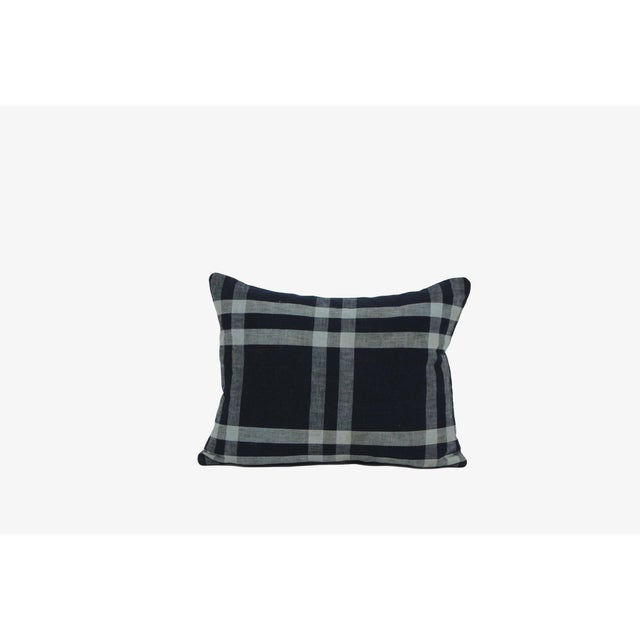 Cabin Japanese Cotton Shima Plaid Pillow For Sale - Image 3 of 3