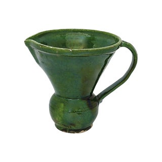Rustic French Stoneware Wine Carafe For Sale
