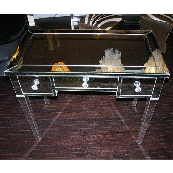 Custom Mirrored Desk For Sale - Image 4 of 8