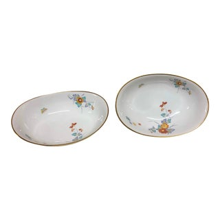 Noritake Ming Pattern Oval Serving Bowls - a Pair of Classical Porcelain Dishes For Sale