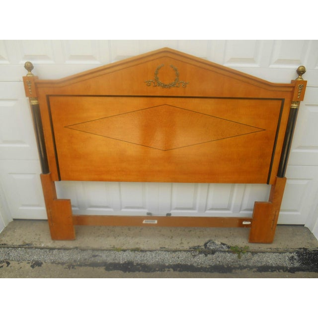 Art Deco Thomasville Art Deco Style Queen Bed For Sale - Image 3 of 5