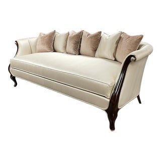 Christopher Guy Silk Upholstered Ginevre Sofa For Sale