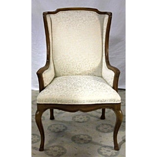 Louis XV Style French Provincial Upholstered Bergere Chair Preview