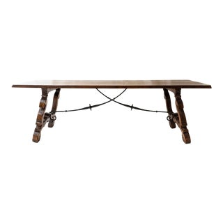 1840s Spanish Catalan Dining Table For Sale