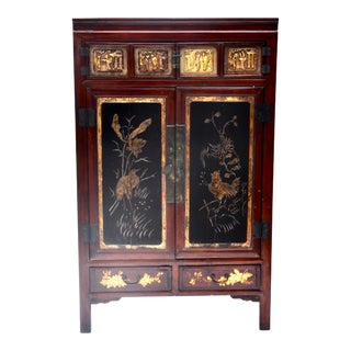 Exquisite Antique Chinese Qing Dynasty Cabinet For Sale