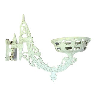 Antique Cast Iron Wall Scone Holds Candle or Plants For Sale