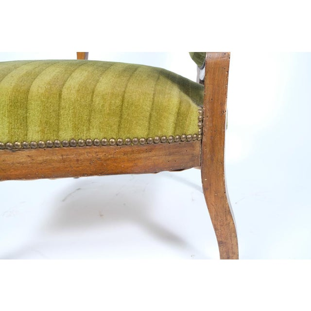 Green 1890's French Rococo-Style Armchair For Sale - Image 8 of 13