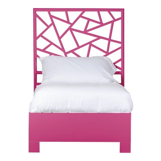 Tiffany Bed Twin Extra Long - Bright Pink For Sale