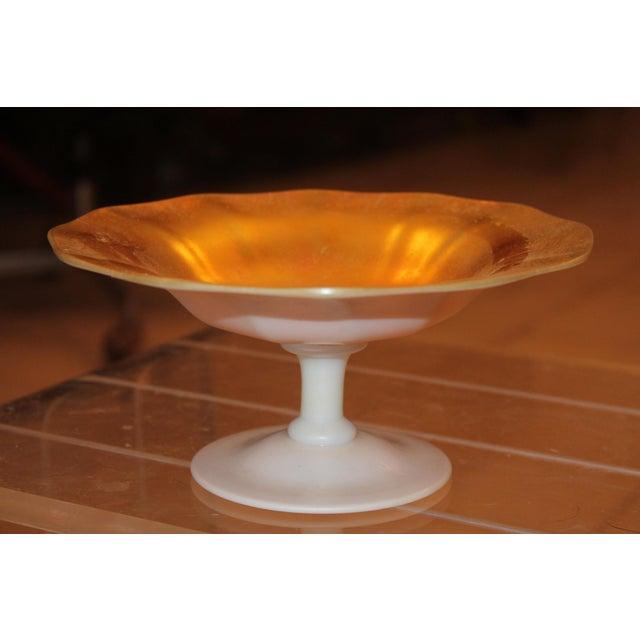 1920's Steuben Art Deco Calcite & Gold Aurene Bowl - Image 2 of 10