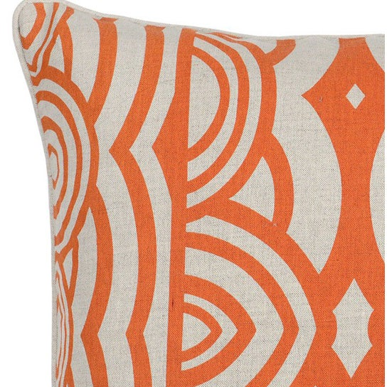 Modern Orange Pillow : Modern Orange Down Pillow Chairish